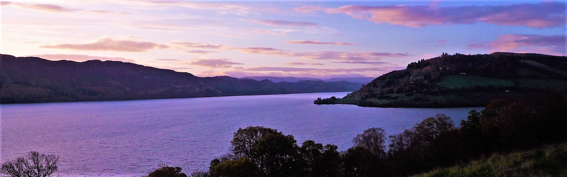 Sunset over Loch Ness on the Great Glen Way